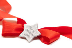 查出的红色ribow星形 免版税图库摄影