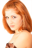 查出的纵向性感的妇女年轻人 免版税库存照片