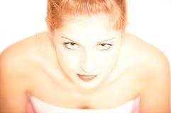 查出的纵向性感的妇女年轻人 库存照片