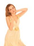 查出的纵向性感的妇女年轻人 免版税库存图片