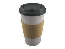 查出的纸咖啡杯 免版税图库摄影