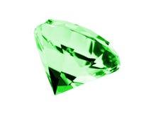 查出的绿宝石 免版税库存照片