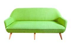 查出的绿色沙发 免版税库存照片