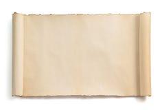 查出的羊皮纸滚动白色 免版税库存照片