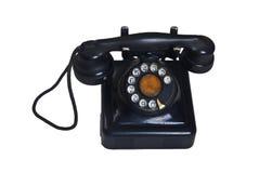 查出的老电话 免版税库存图片