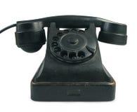 查出的老集电话白色 免版税库存图片
