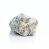 查出的背景向白色扔石头 自然矿物 图库摄影