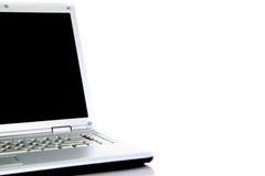 查出的膝上型计算机现代白色 库存照片