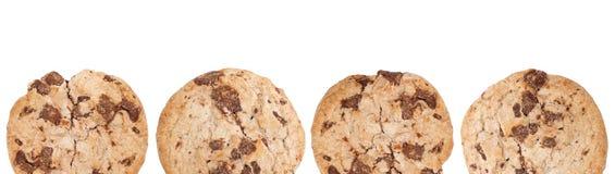查出的自创巧克力曲奇饼 免版税库存照片