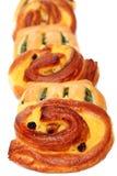 查出的自创新鲜的小圆面包 免版税库存图片