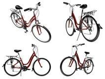 查出的自行车拼贴画 免版税库存照片