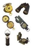 查出的船舶仪器 库存图片
