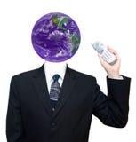 查出的营业通讯全球 库存照片
