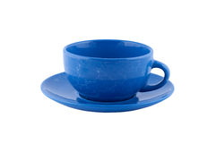 查出的蓝色杯子黑暗 库存图片