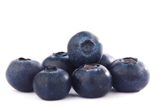 查出的蓝莓 免版税库存图片