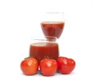 查出的蕃茄和汁液 图库摄影
