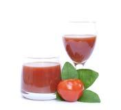 查出的蕃茄和汁液 免版税图库摄影
