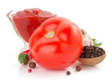 查出的蕃茄白色 库存图片