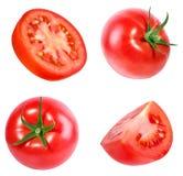查出的蕃茄白色 免版税库存照片
