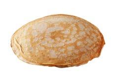 查出的薄煎饼白色 库存照片