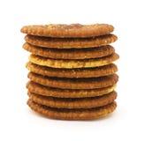 查出的薄脆饼干 免版税库存图片