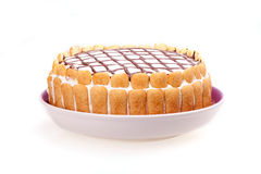 查出的蛋糕 免版税库存图片