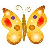 查出的蝴蝶Clipart 免版税库存图片
