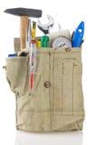 查出的袋子传送带用工具加工白色 图库摄影
