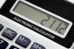 查出的计算器 免版税图库摄影