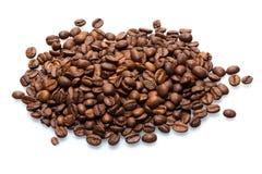 查出的豆咖啡 免版税库存图片