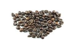 查出的豆咖啡 库存照片