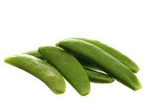 查出的豌豆攫取白色 免版税库存照片