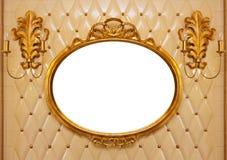 查出的豪华葡萄酒镜子里面 库存图片