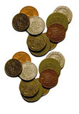 查出的货币 免版税图库摄影