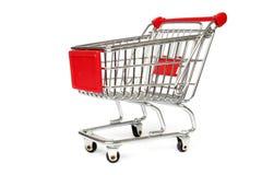 查出的购物的台车 免版税库存照片