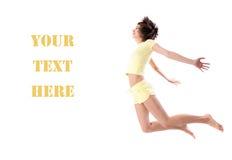 查出的跳的体育运动妇女年轻人 图库摄影
