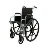 查出的轮椅白色 免版税库存照片