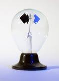 查出的轻的光子科学锭床工人玩具 免版税图库摄影