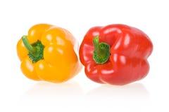 查出的辣椒粉红色成熟黄色 库存图片