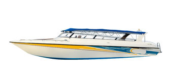 查出的速度小船 免版税图库摄影