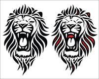 查出的部族狮子纹身花刺 库存例证
