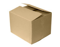 查出的配件箱纸盒 库存照片