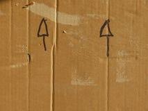 查出的配件箱纸板遮蔽白色 库存照片