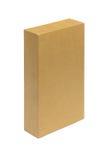 查出的配件箱纸板遮蔽白色 免版税库存图片