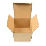 查出的配件箱纸板遮蔽白色 免版税图库摄影