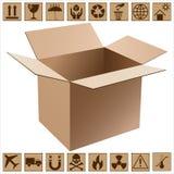 查出的配件箱纸板遮蔽白色 皇族释放例证