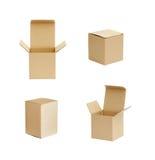 查出的配件箱纸板 免版税库存图片