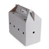 查出的配件箱纸板 免版税图库摄影