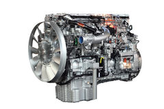 查出的重型卡车引擎 库存照片