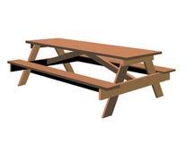 查出的野餐桌 免版税图库摄影